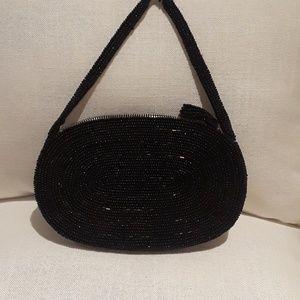 Vintage Beaded Black Purse